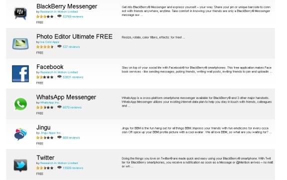 25 Aplikasi Free Terbaik Untuk Blackberry (versi App World)575